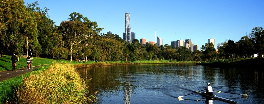 Melbourne Apartment Yarra River is popular for walking cycling and water sports